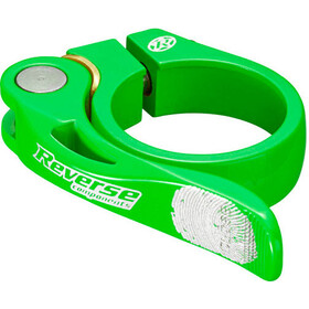 Reverse Long Life Saddle Clamp 34,9mm neon green